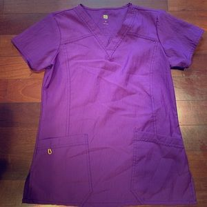 Wink purple scrub top
